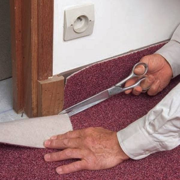 pose moquette escalier beton