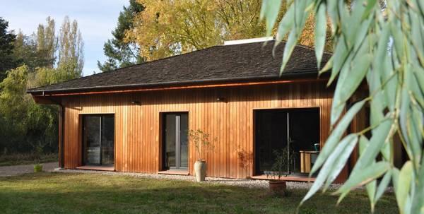 extension bois maison pierre